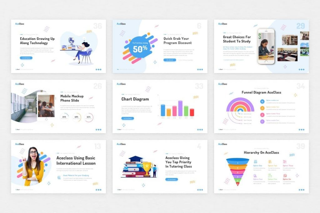 Creative and Professional Themes AceClass Education Keynote Template.