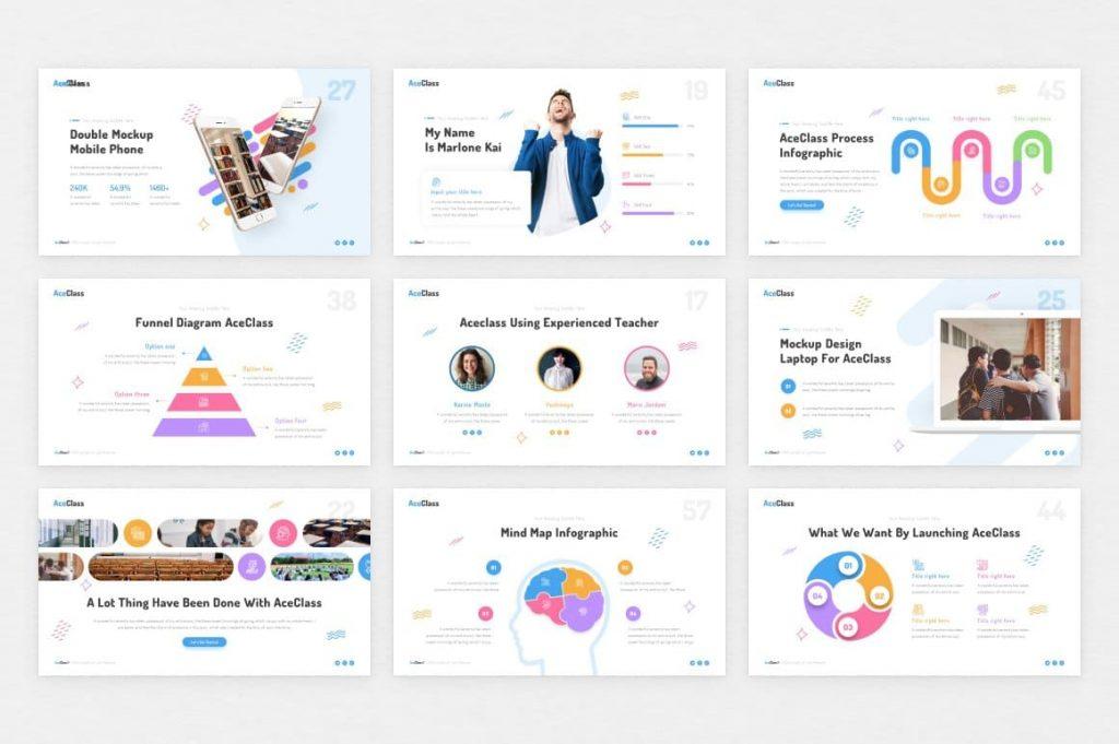 Chart Slides AceClass Education Keynote Template.