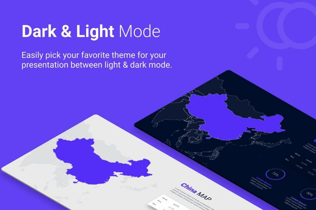 Light and dark background Asia Maps PPTX Presentation Template.