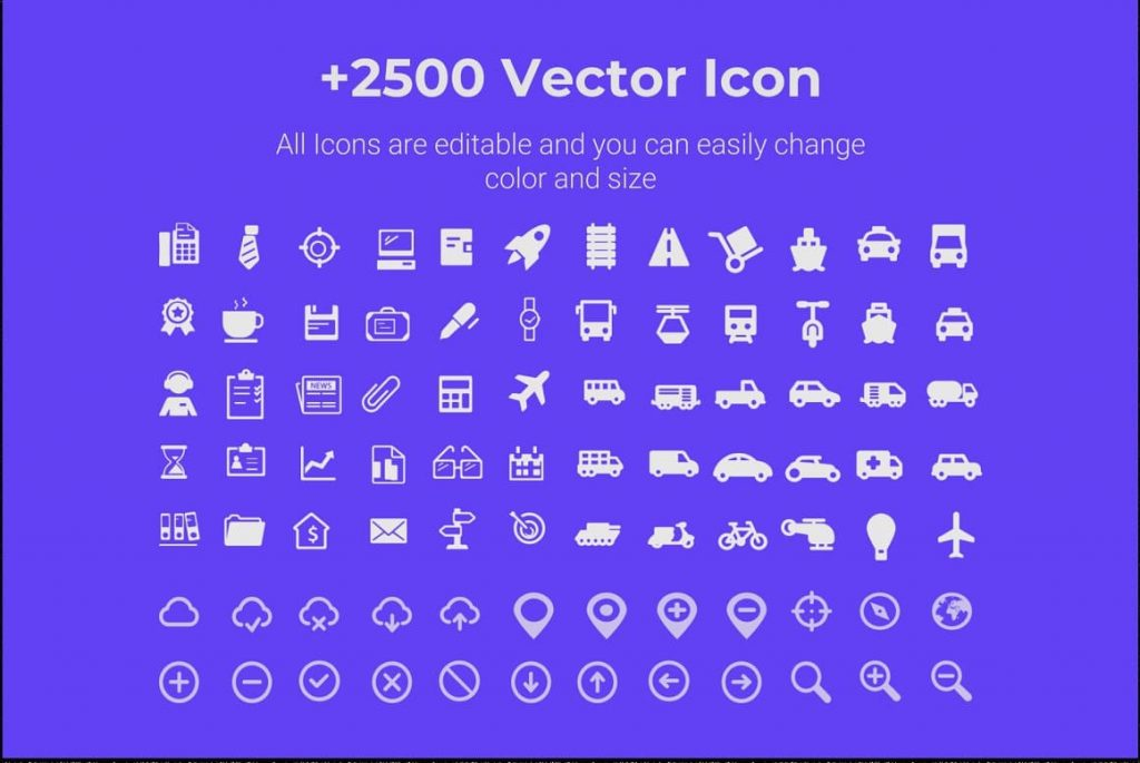 +2500 Asia Maps PPTX Presentation Template vector icons.