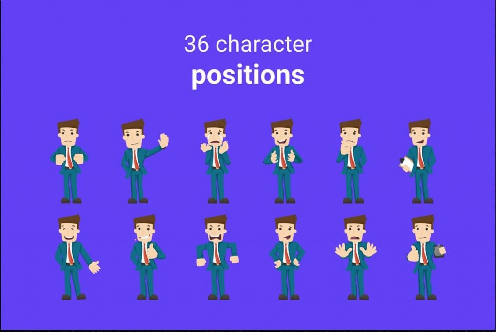 36 character positions Asia Maps PPTX Presentation Template.