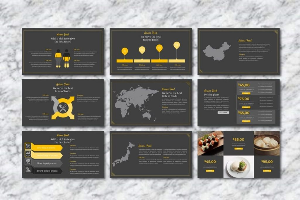 Asians Food Infographic Slides - Food PowerPoint.