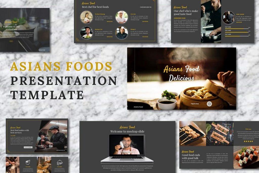 76 slides of Asians Food - Food PowerPoint presentation.