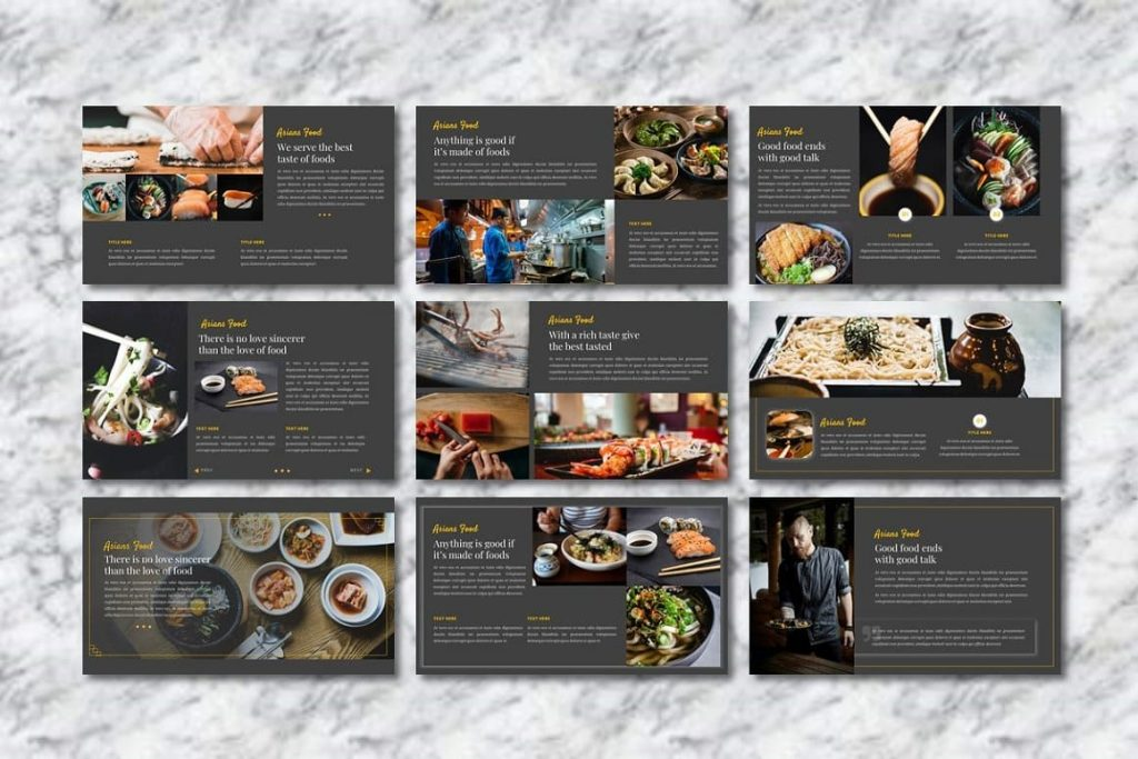 Asians Food - Food PowerPoint slides preview.