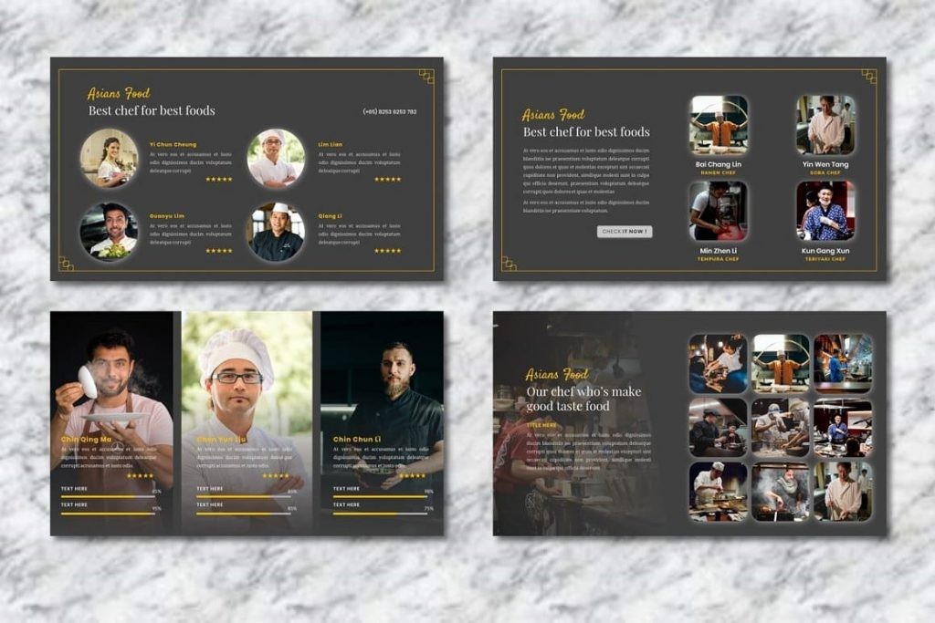 Slides of Best Asians Food Chefs - Food PowerPoint.