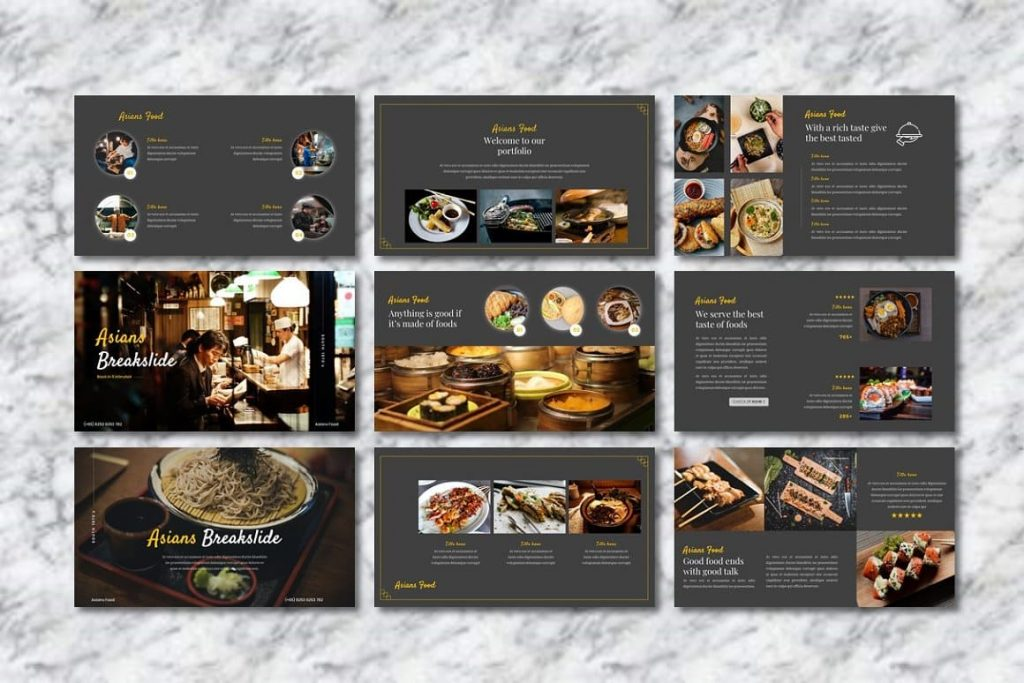 Break slides Asians Food - Food PowerPoint.