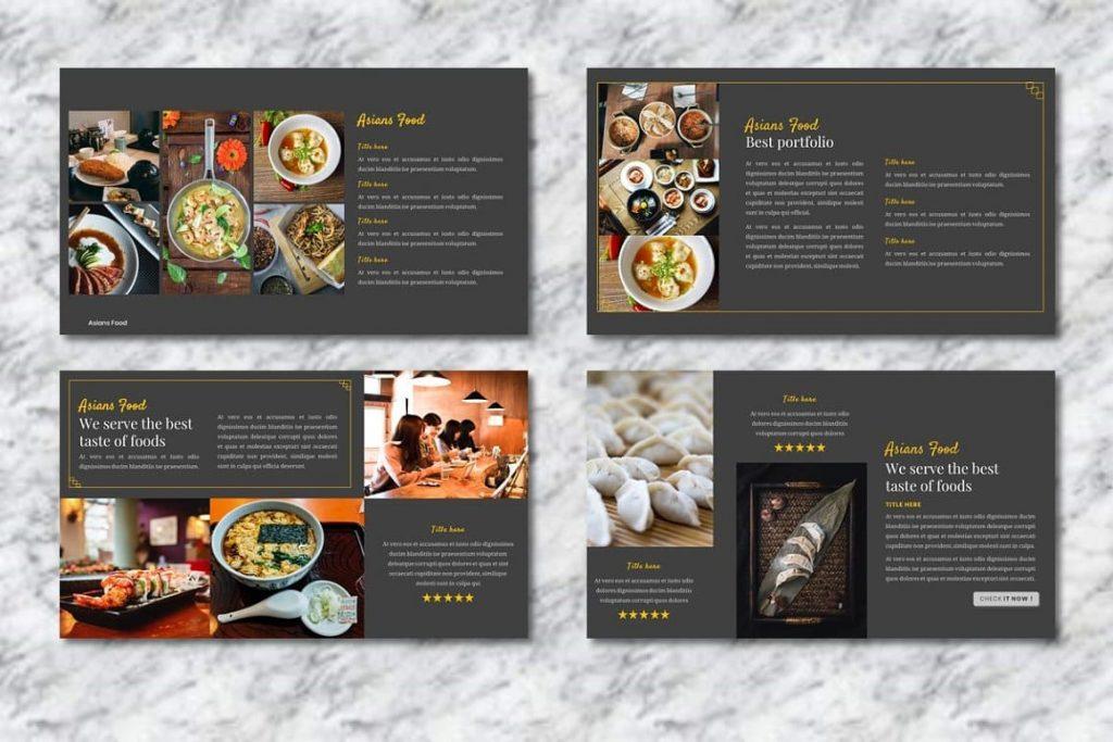 Asians Food Portfolio Slides - Food PowerPoint.