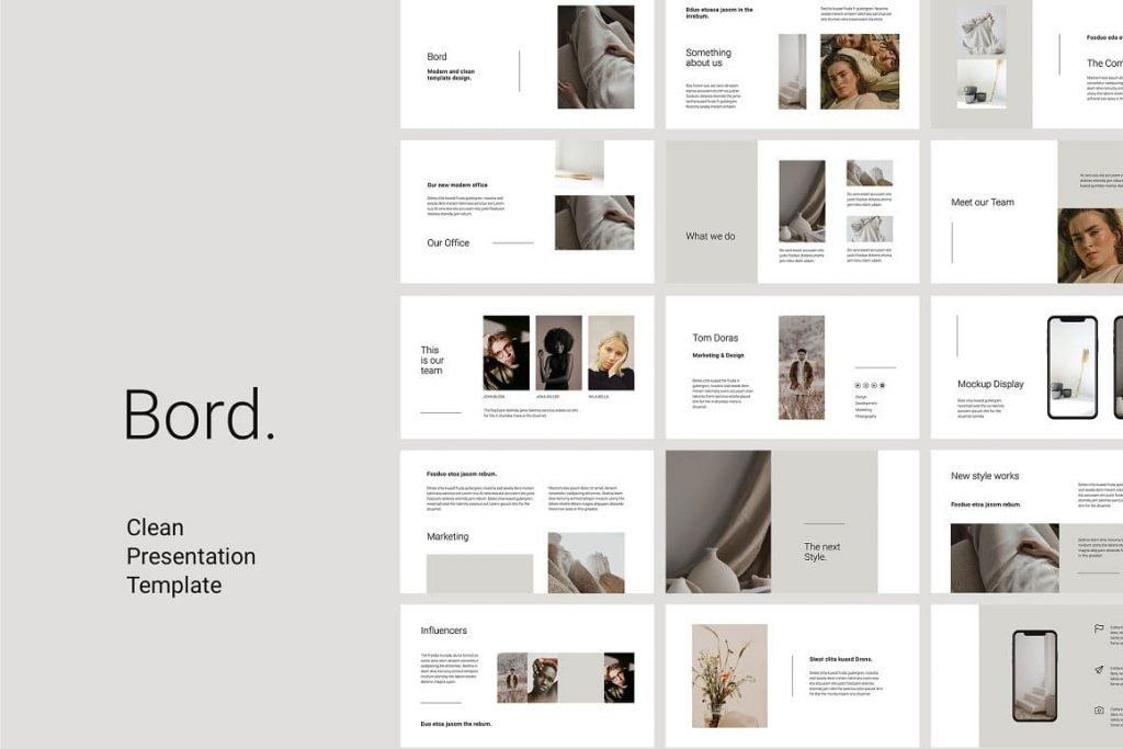 Cover BORD Google Slides Template.