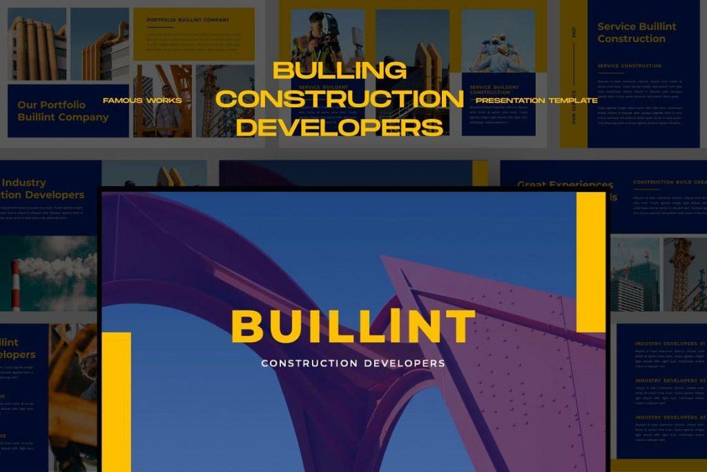 Construction Developers BUILLINT Keynote Template.