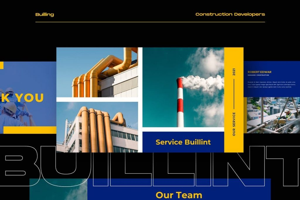 Slide Our service BUILLINT Keynote Template.