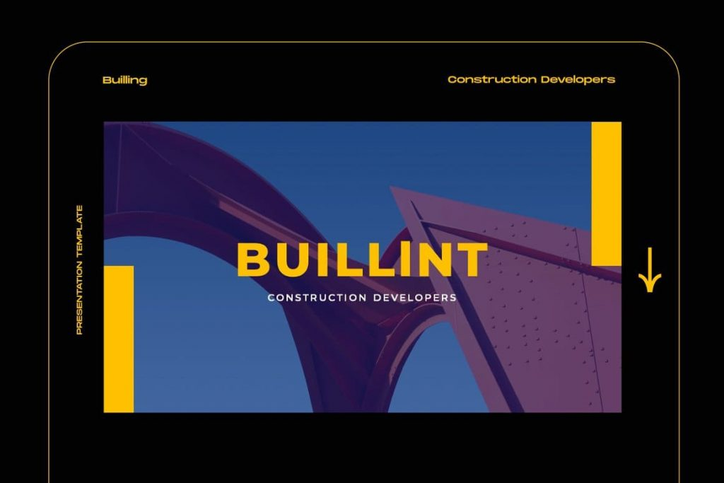 Easy to Customize BUILLINT Keynote Template.