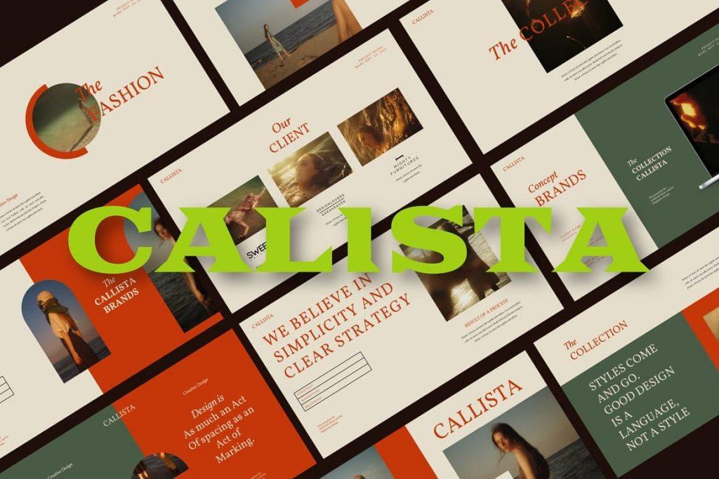 Cover Calista Googleslide Template.