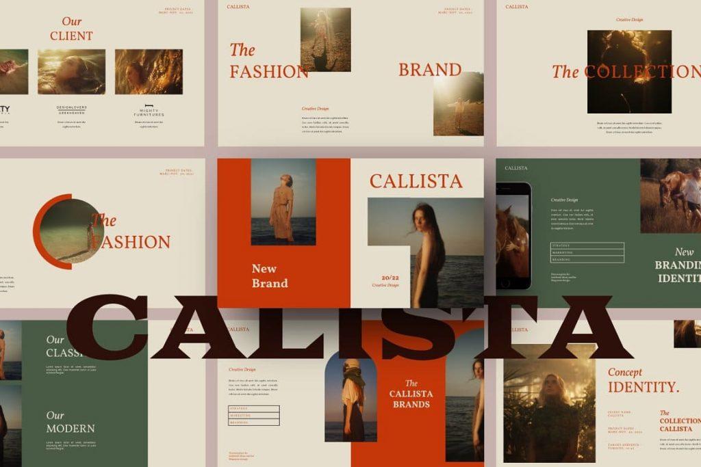 Professional Calista Presentation - Google Slide Template.
