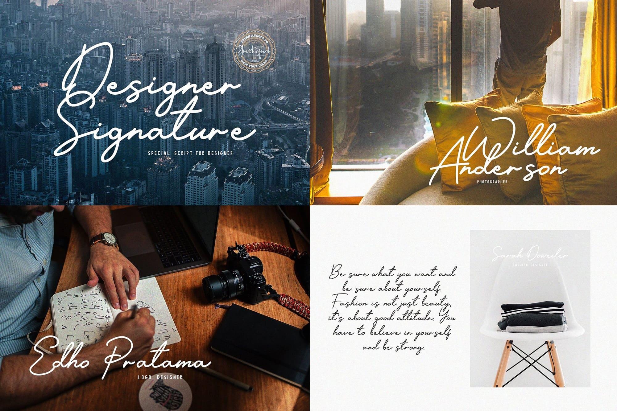Designer Signature Font.