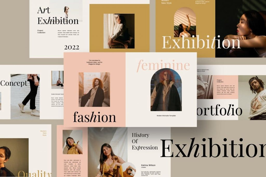 Fully Editable Exhibition Keynote Template.