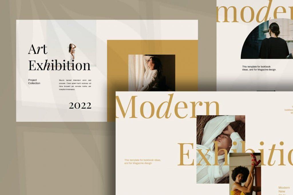 Modern Urban Style Layout Exhibition Keynote Template.