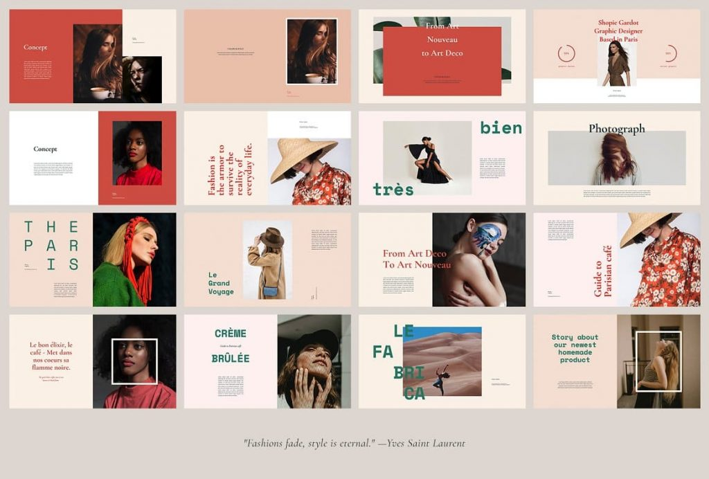 Easy to Customize FEUILLA - Powerpoint Template.