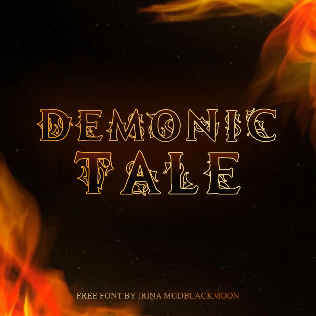 MasterBundles Free Demonic Font Main Cover.