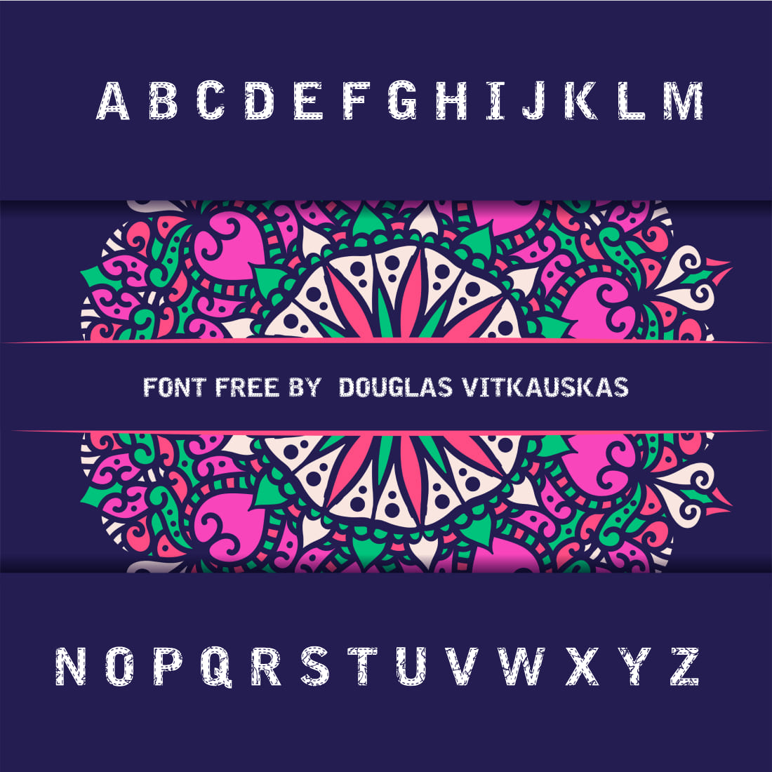 Free Embroidery Font Awesome Cover Preview.