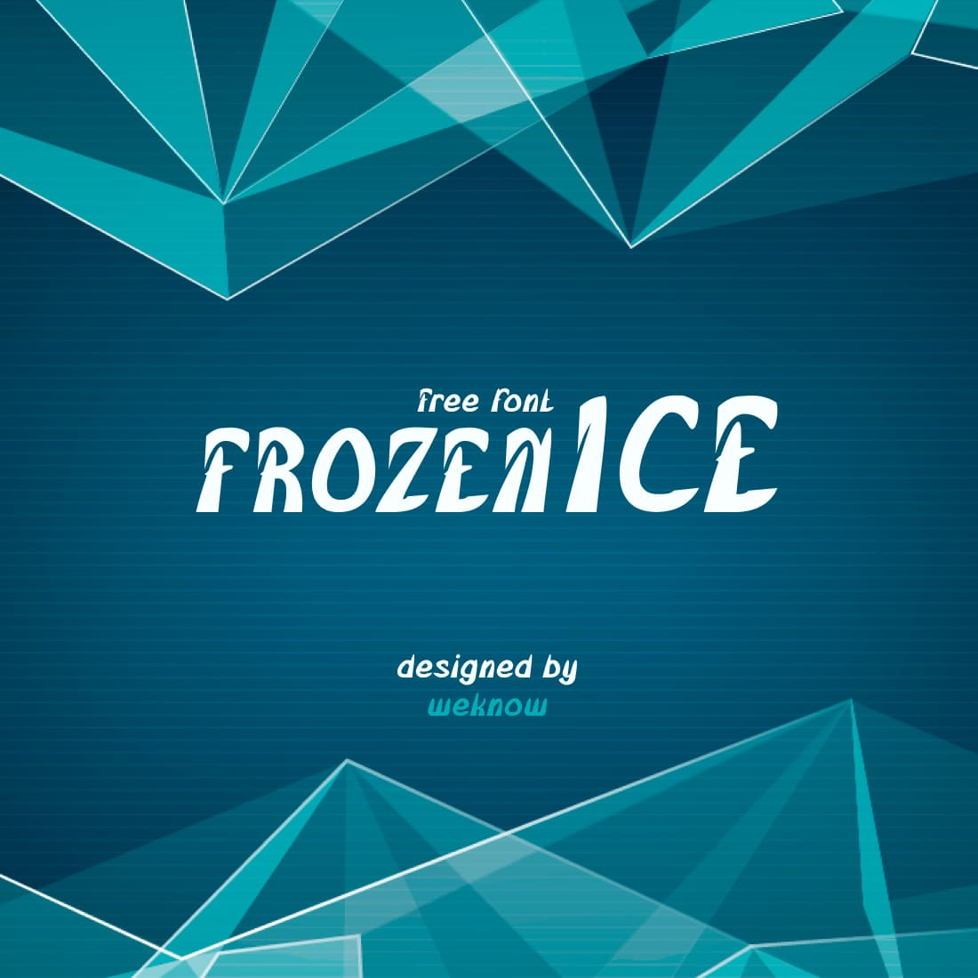 Free Frozen Font Main Cover MasterBundles.