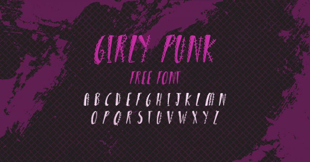 Free Girly Punk Font Cool Facebook Collage Image by MasterBundles.