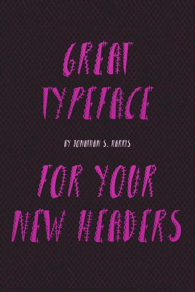 MasterBundles Free Girly Punk Font Pinterest Black and Pink Example Phrase.