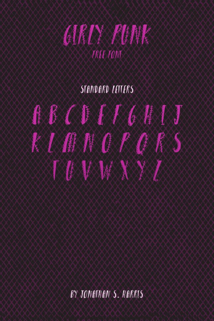 Free Girly Punk Font Pinterest Letters Preview.