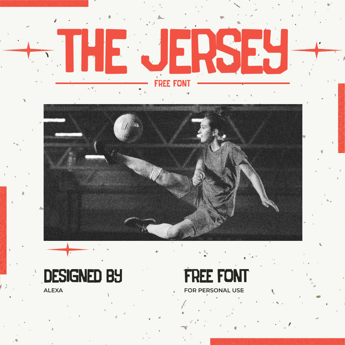 Free Jersey Font Collage Preview.