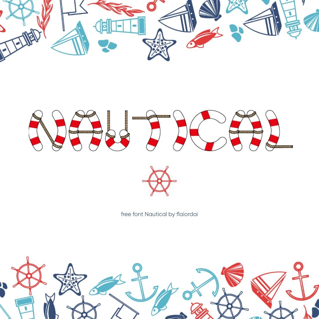 MasterBundles Free Nautical Font Main Cover.