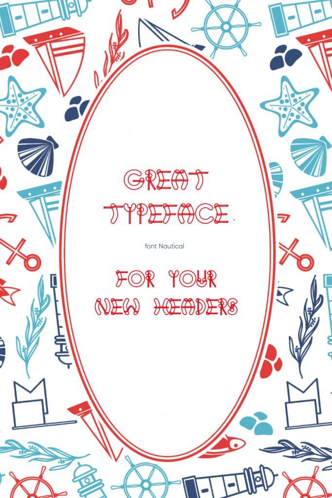 MasterBundles Pinterest Example Image using Free Nautical Font.