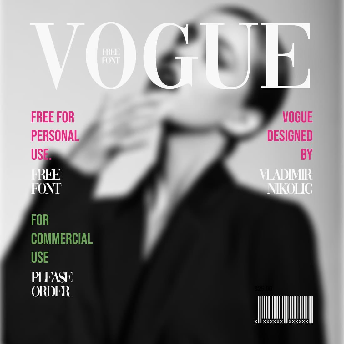 Free Vogue Font Fashion Cover MasterBundles.
