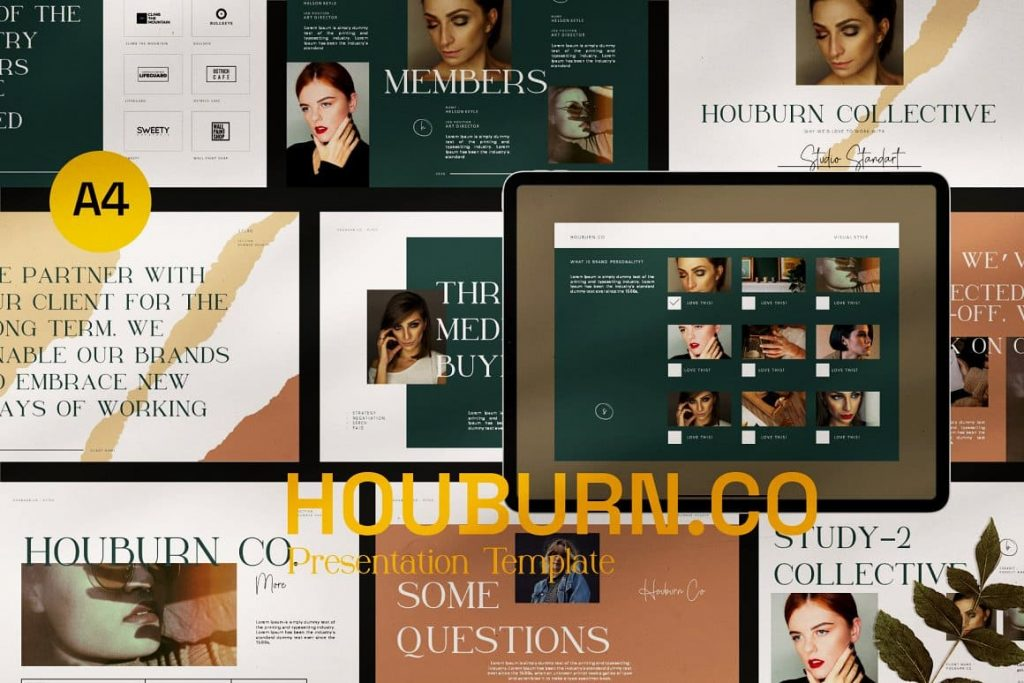 Cover Houburn.CO Powerpoint Template.