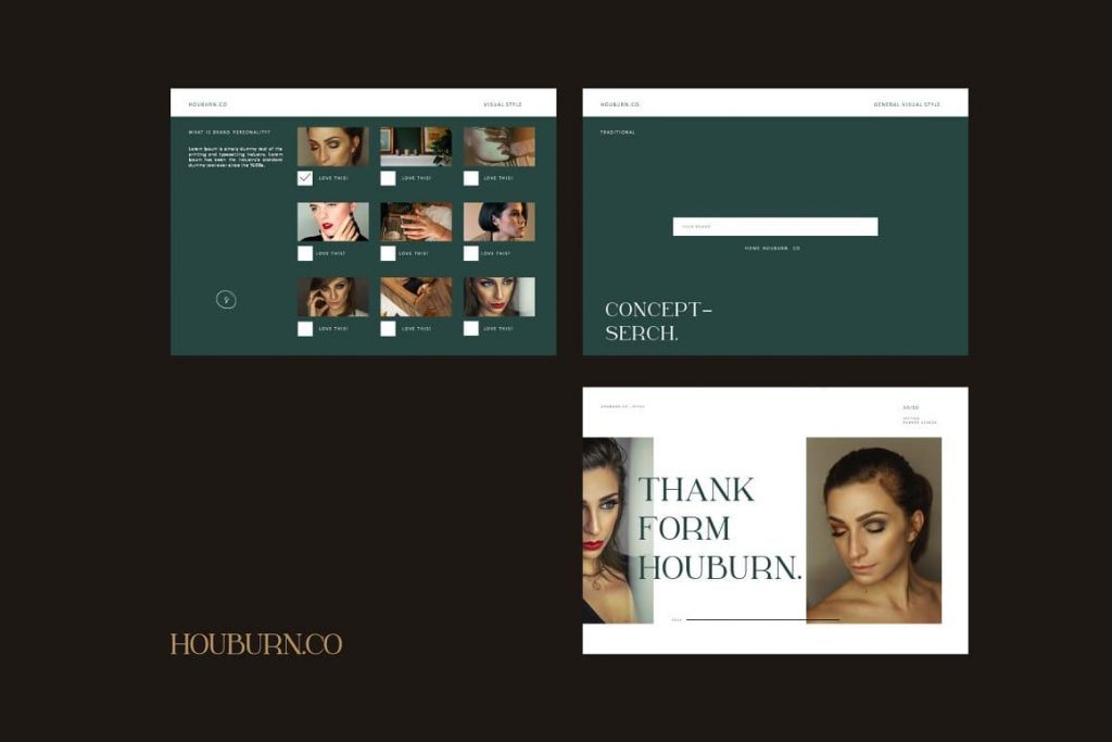 Active Forms for Houburn.CO Powerpoint Template.