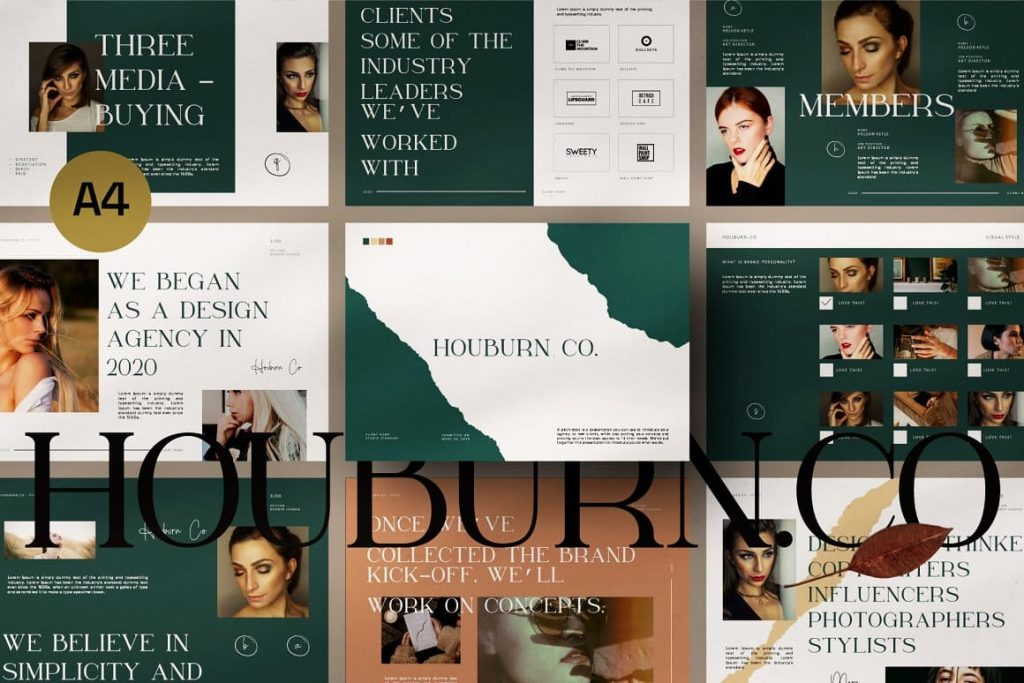 Preview of A4 slides Houburn.CO Powerpoint Template.