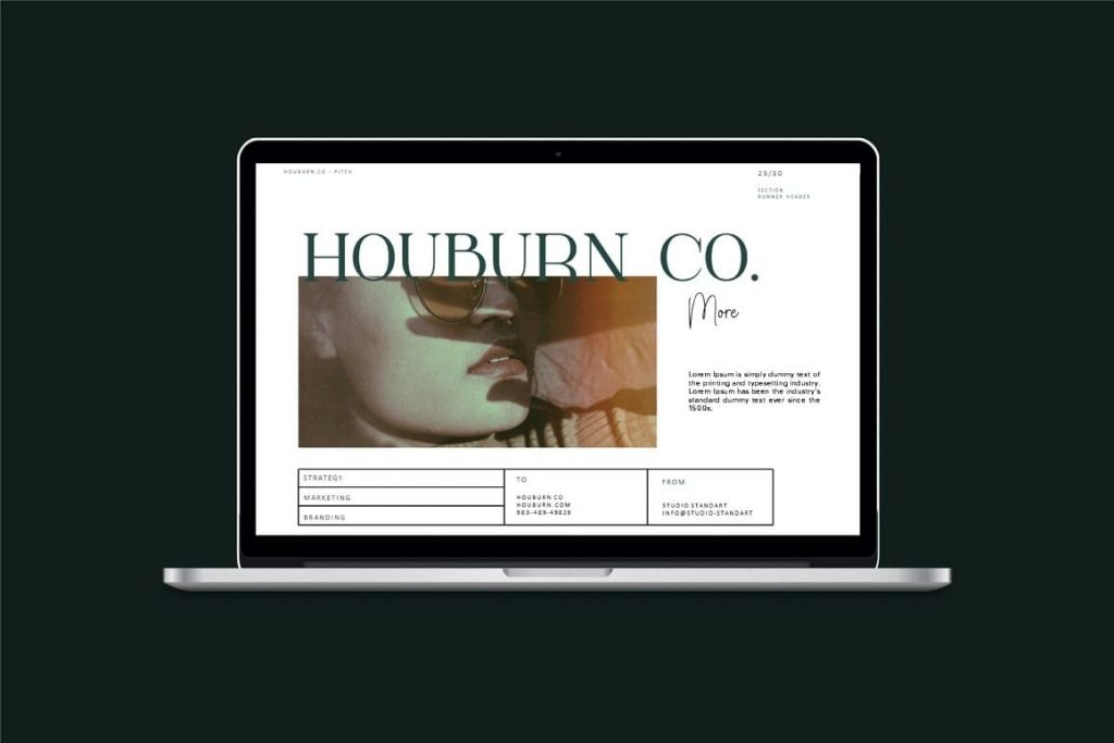 Device Mockup Houburn.CO Powerpoint Template.