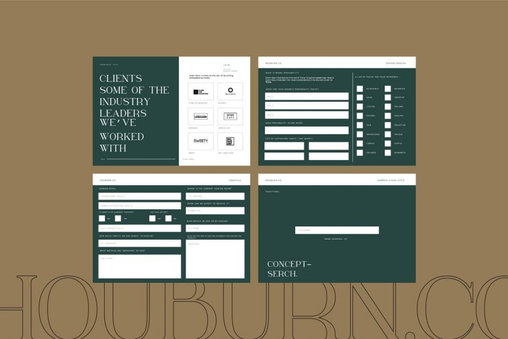Forms to fill in Houburn.CO Powerpoint Template.