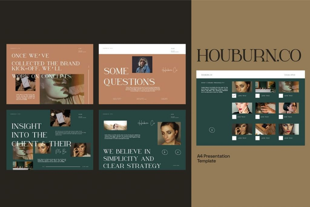 Easy to Customize Houburn.CO Powerpoint Template.