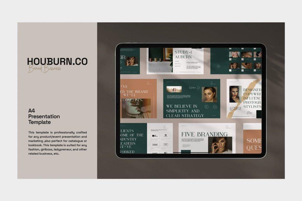 Tablet Mockup Houburn.CO Powerpoint Template.