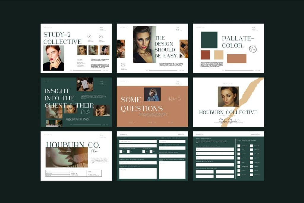 Houburn.CO Powerpoint Template Slide Preview.