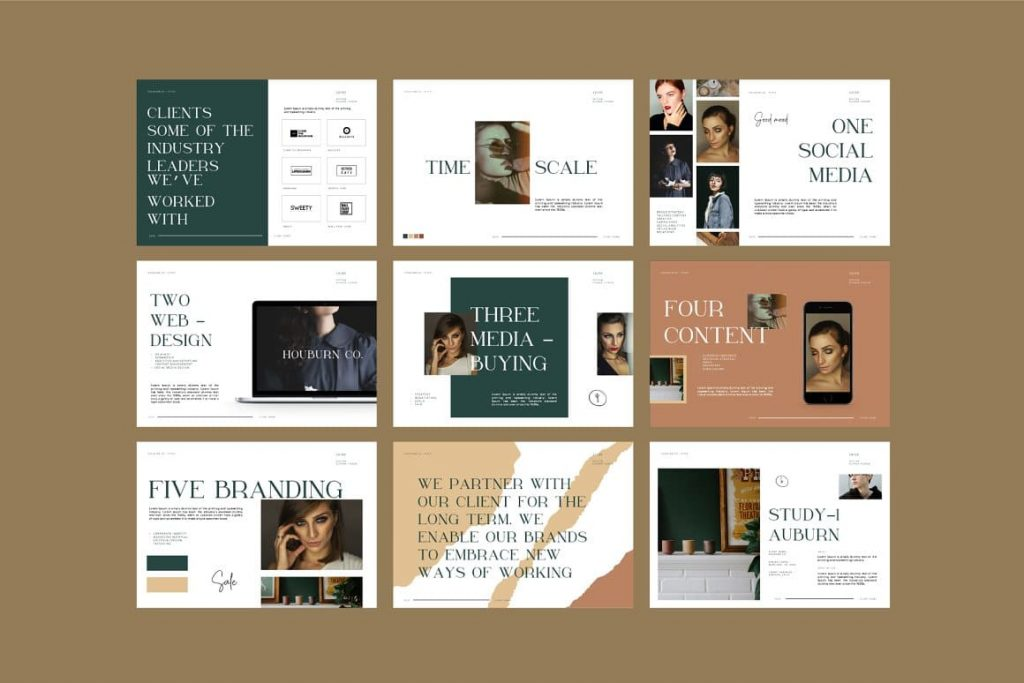Font Used Houburn.CO Powerpoint Template.
