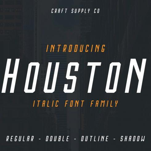 Houston Italic Font Family Main Cover.