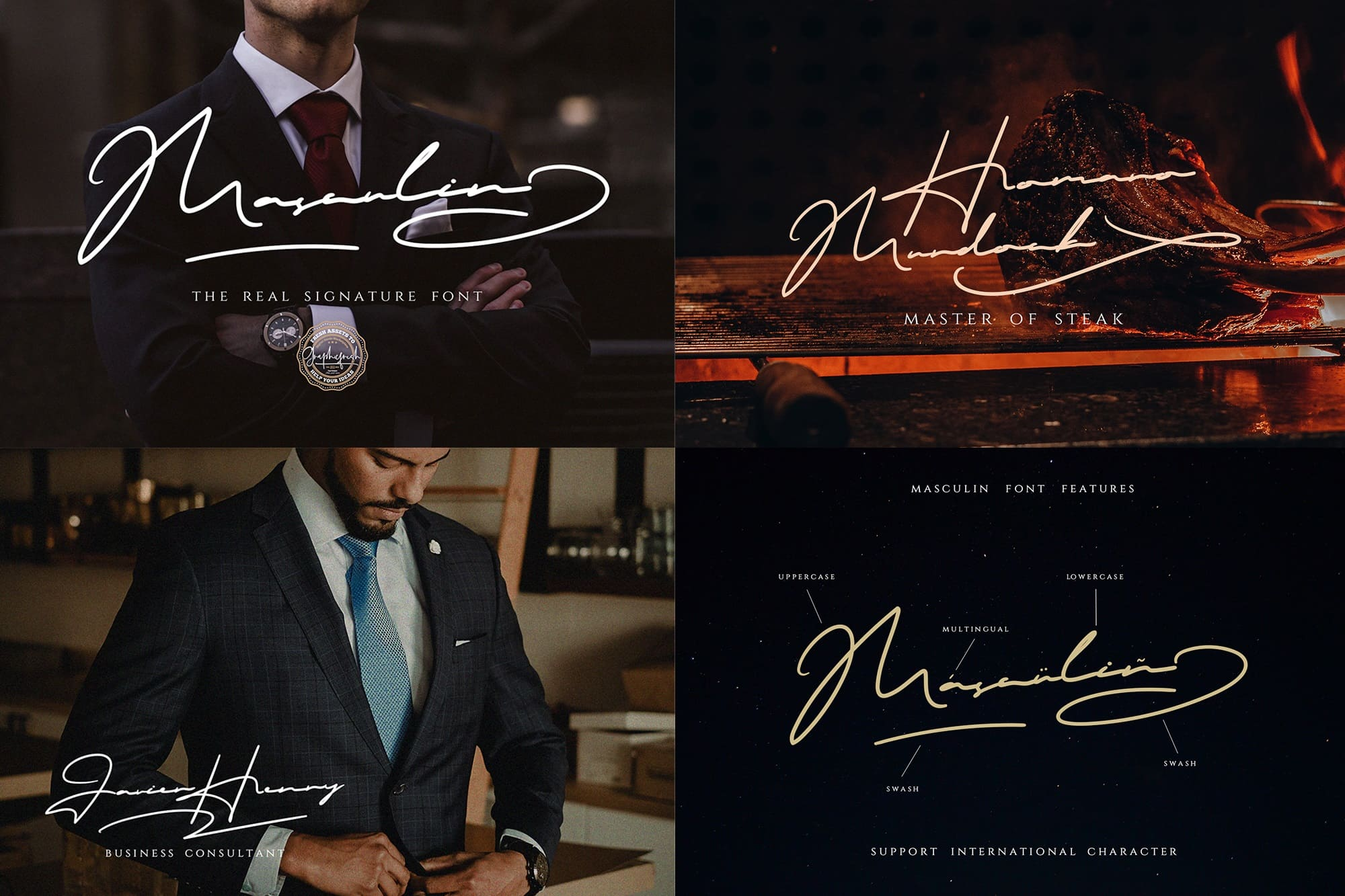 MASCULIN - The Real Signature Font.