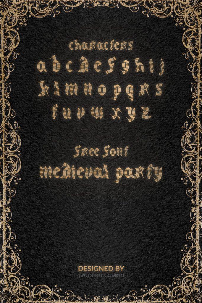 MasterBundles Medieval Font Free Pinterest Alphabet Preview.