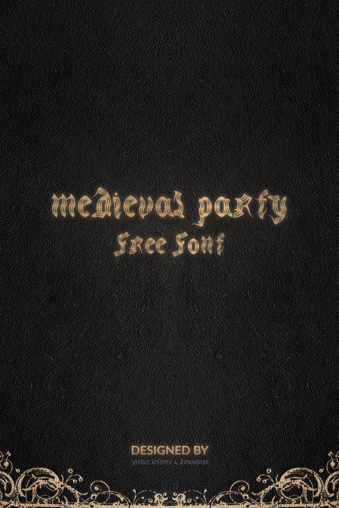 Medieval Font Free Pinterest Preview by MasterBundles.