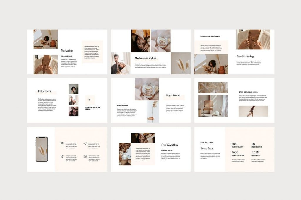 40+ Unique, modern and simple Google Slides OSSA Template.