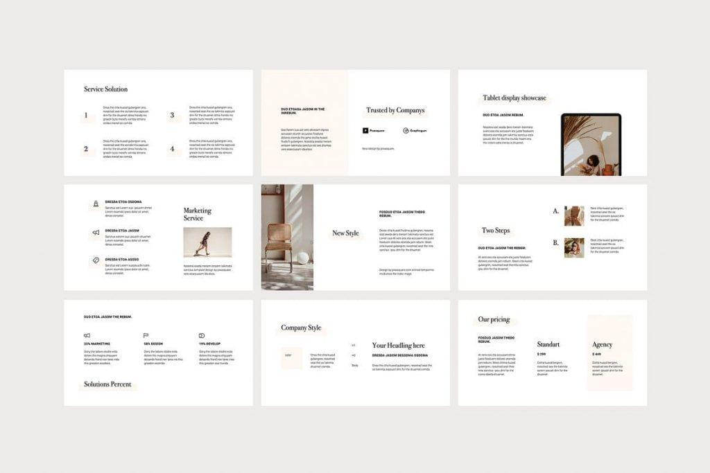 Content of slides OSSA Google Slides Template.