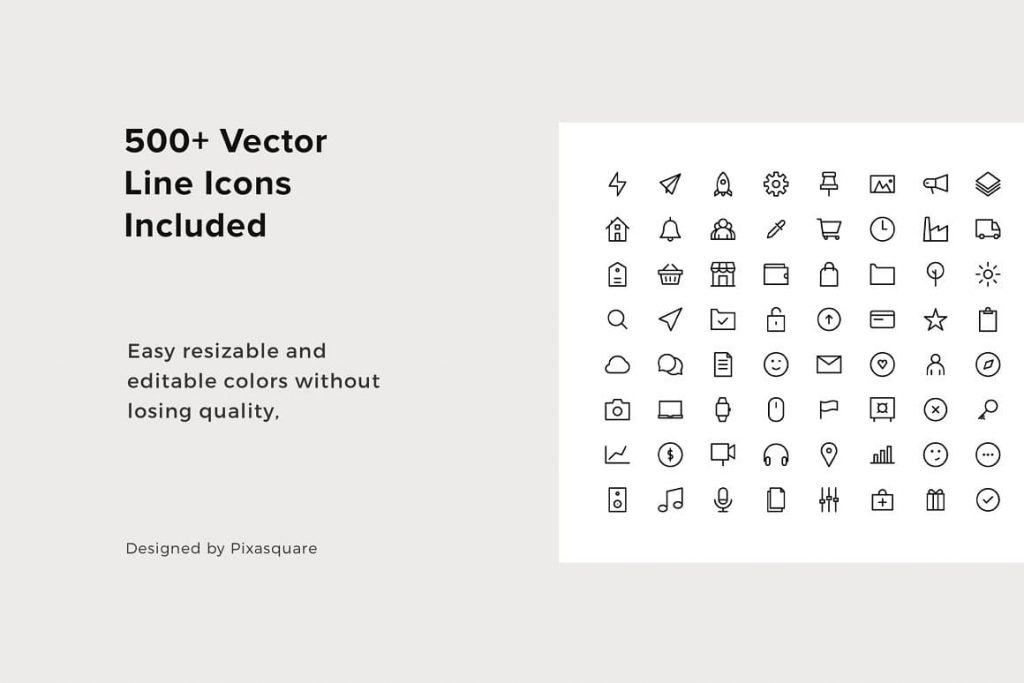 Included 500+ Vector OSSA Google Slides Template Icons.