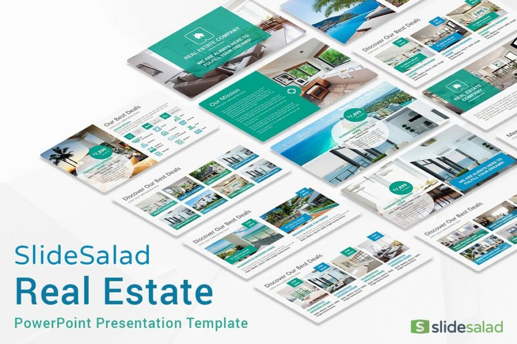 Cover Real Estate PowerPoint Template.
