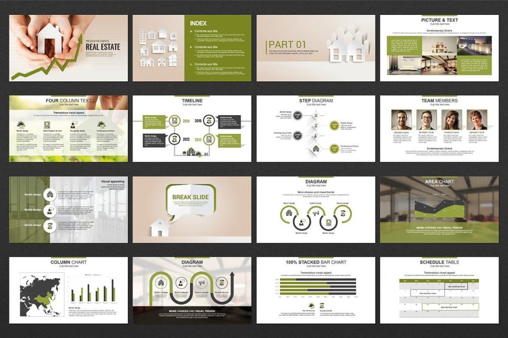 60 slides Real Estate PowerPoint Template.