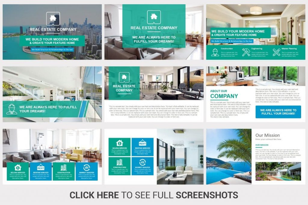 45 Unique & Creative slides Real Estate PowerPoint Template.